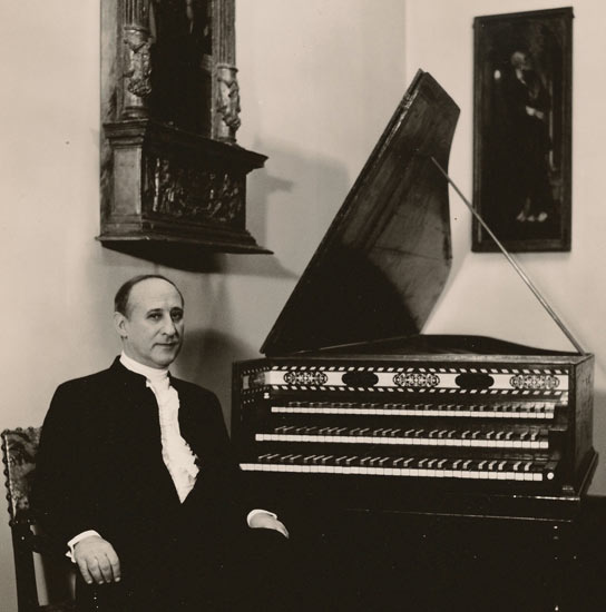 Hass Haas 3 manual harpsichord belonging to Rafael Puyana