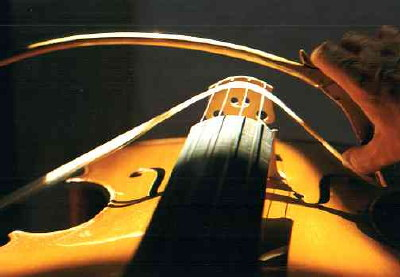 modern version of curved violin bow